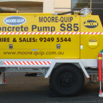 Concrete Pump Hire  S85 side view